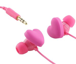 idee regalo originali gadget auricolari a forma di cuori rosa